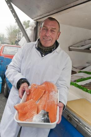 Terry Evans in Cheam where he sold fresh fish from Hastings