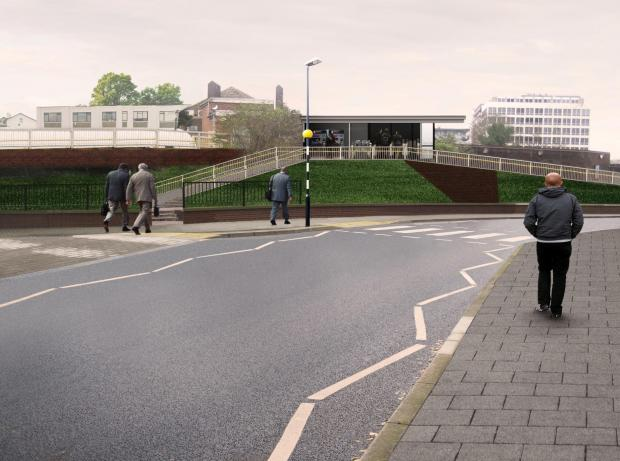 Sutton Guardian: How the side entrance to the station will look in the summer