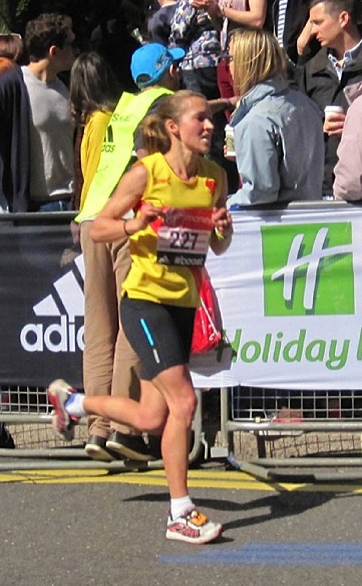 Top running: Claire Grima finished sixth in the women's ov