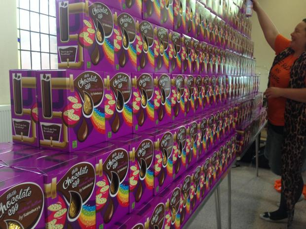 Some of the 500 eggs that have been given away around Sutton