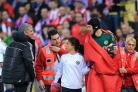 Chelsea manager Jose Mourinho, left, says Petr Cech, right, won't play again this season