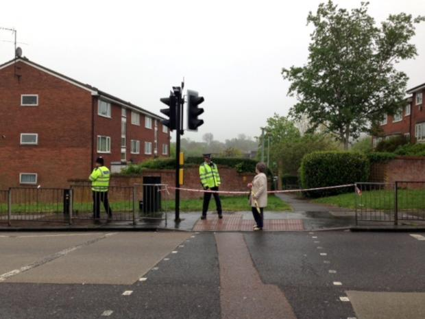 Sutton Guardian: The area has been cordoned off after a 52-year-old man was stabbed to death last night