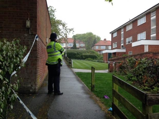 Sutton Guardian: A police cordon is in place because of last night's stabbing