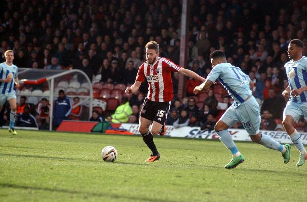 On the mark: Northern Irishman Stuart Dallas has impressed in a recent run of starts for Brentford