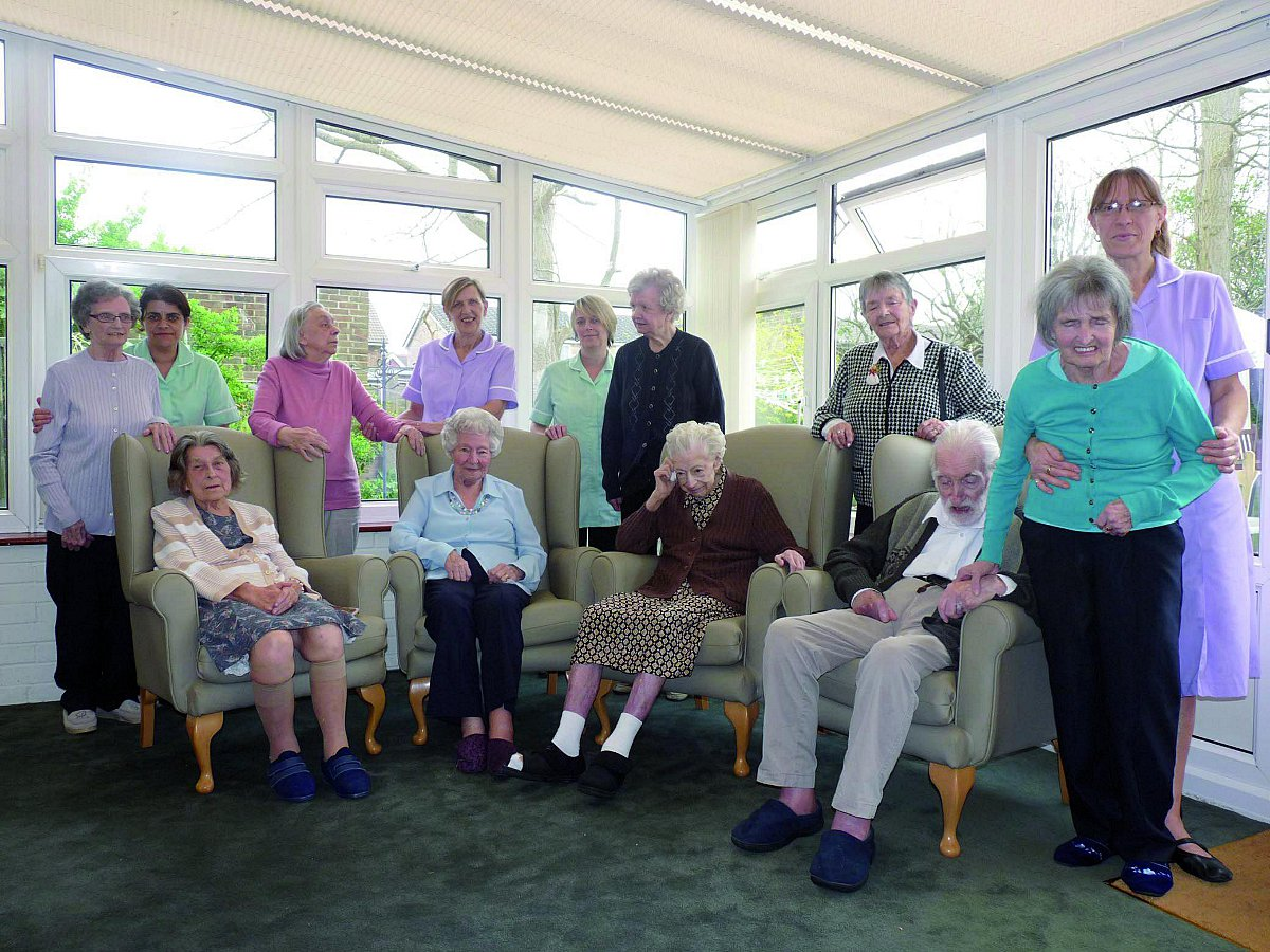 Wellesley Lodge residents and staff