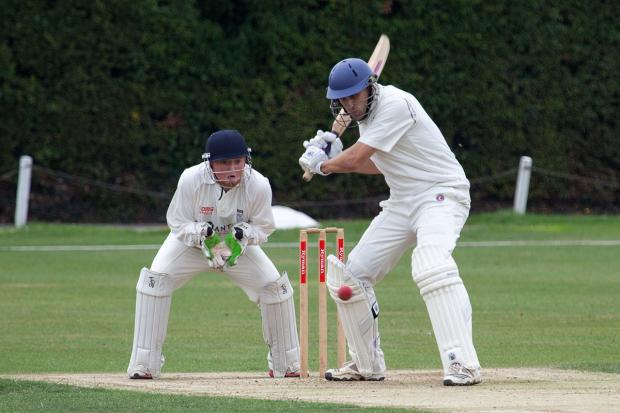 Stepping into big shoes: Chris Benham, in action with the bat in last season's win over Sunbury, wants Wimbledon to dominate the club scene for years to come                  SP78638