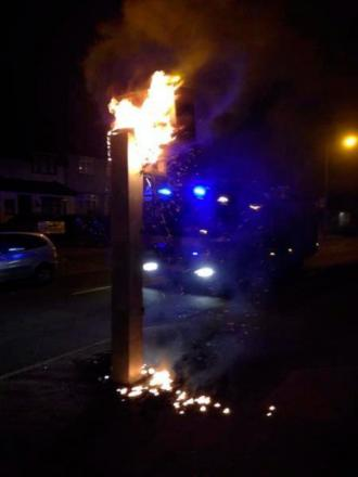 The burning speed camera (picture: Tay Hassan)