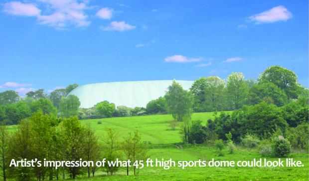 Sutton Guardian: How the 45ft dome would look according to campaigners