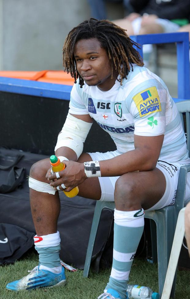Sutton Guardian: Naughty boy: London Irish winger Marland Yarde was handed a yellow card the last time he was at the Stoop