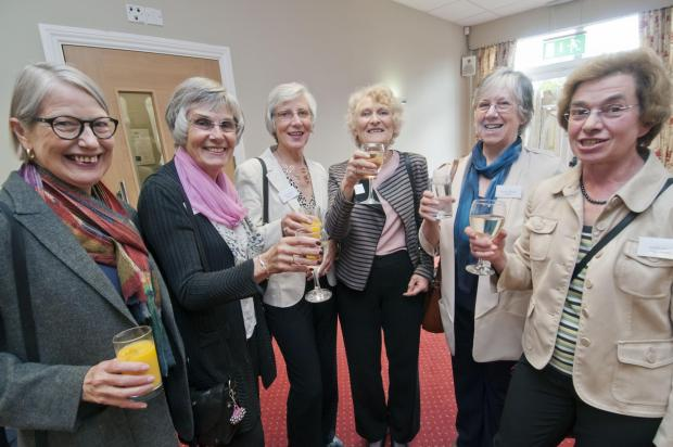 Cheers for the memories: Former pupils raise a glass to their school days