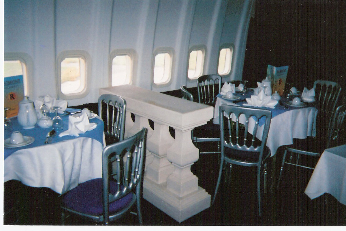 Aeroplane lover Mustafa Azim has converted a Boeing 737 passenger jet into a luxury curry restaurant