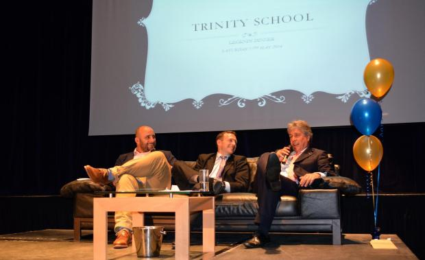 Trinity trio: David Flatman, Simon Amor and John Inverdale