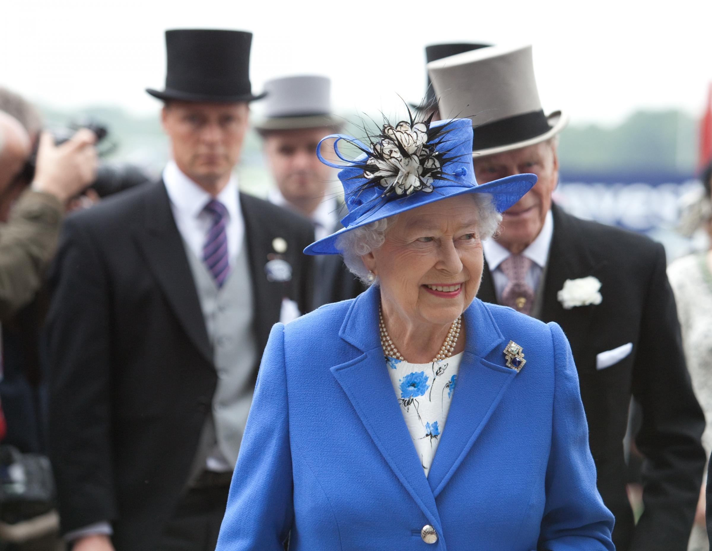 The Queen at the 2012 Epsom Derby