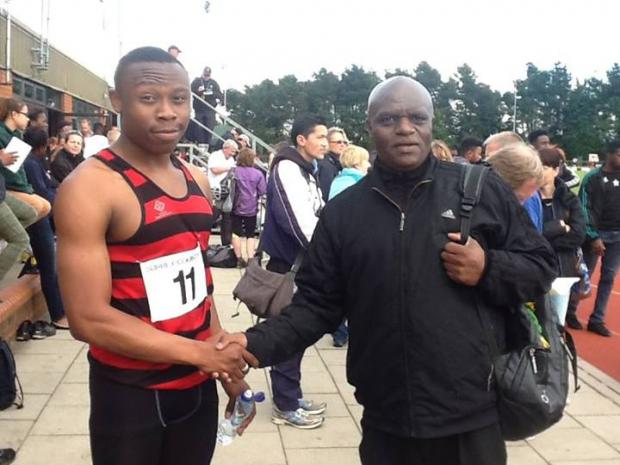 Sutton Guardian: Winner: Marvin Popoola with coach Les Johnson