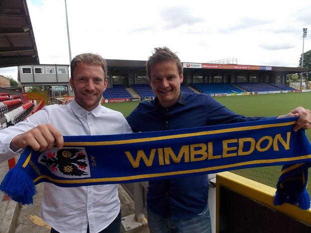 Faith in Ardley: Sean Rigg, left, put pen to paper on the deal to join the Dons as soon as he met the manager