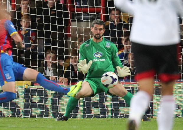 Staying around: Julian Speroni is staying at Selhurst Park for another season