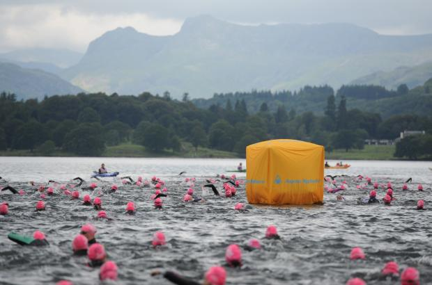 The Great North Swim took place in the Windermere in the Lake District