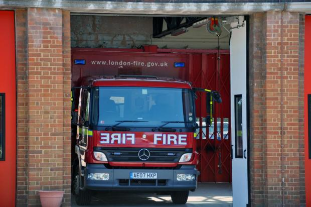 Sutton Fire Brigade were called out shortly after midnight