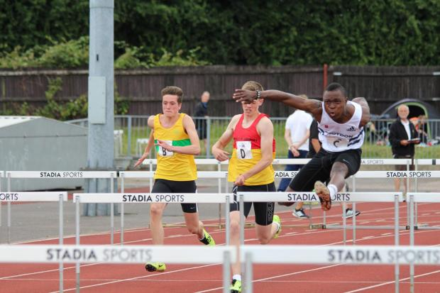 Jump to it: Croydon Harriers Robert Sakala in the 100m hurdles
