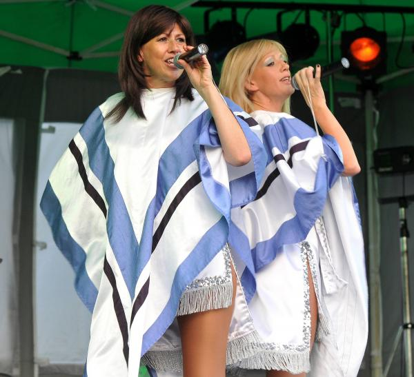 An Abba tribute show in aid of St Raphael's Hospice in 2013