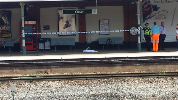 Commuter dies after collapsing at Cheam station this morning
