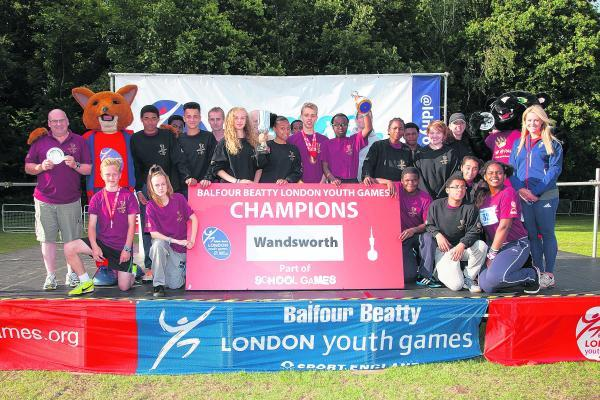 Champions: Wandsworth's sporting heroes have been crowned winners of the Balfour Beatty London Youth Games for the second consecutive year