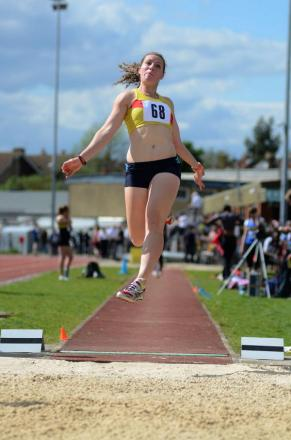 Busy day: Emily Martin of Hercules Wimbledon AC