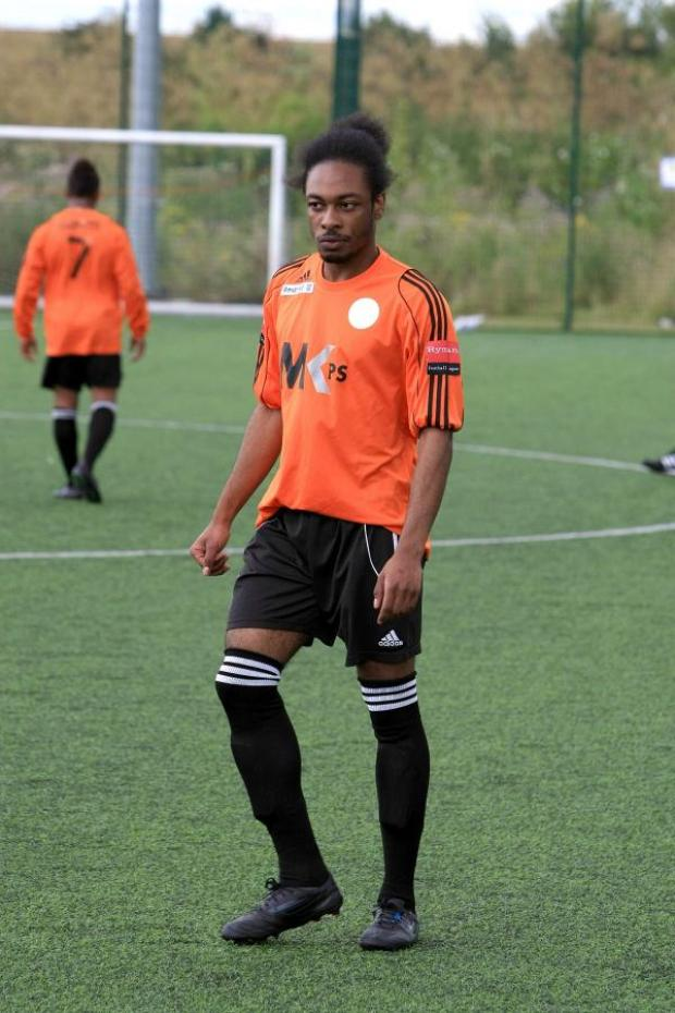 Sutton Guardian: Red hot: Walton Casuals Andre Scarlett has realistic expectations at Waterside Drive