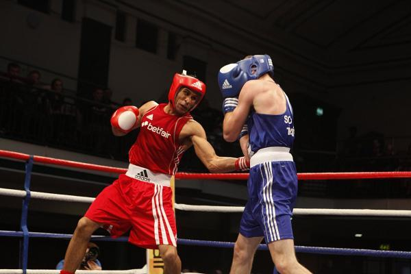 Pro debut win: Louis Adolphe, left, has started his professional career on a winning note