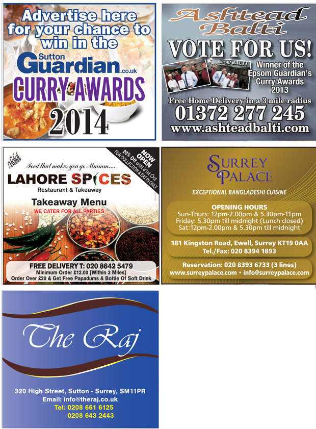 Sutton Guardian: Curry Awards 2014 Sutton