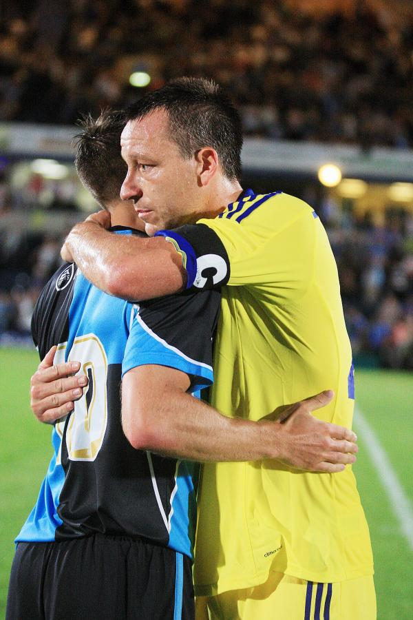 Memory Lane: Chelsea' John Terry after Matt Bloomfield's testimonial at Wycombe Wanderers earlier this month    Picture