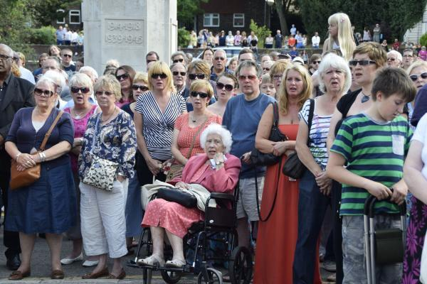 There was a huge turnout with people from every generation joining to remember those who fell