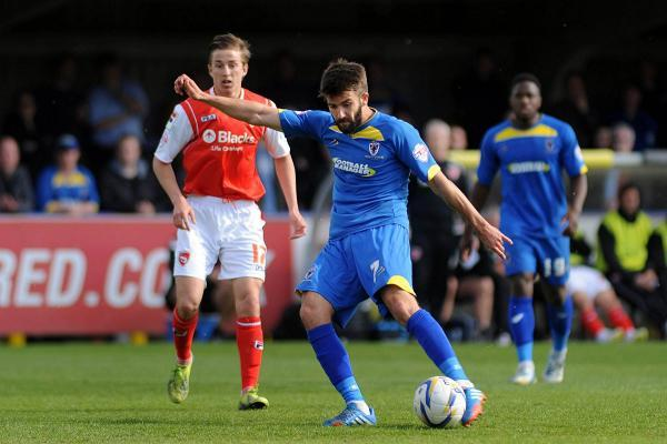 On target: Dons man George Francomb is enjoying life at Kingsmeadow