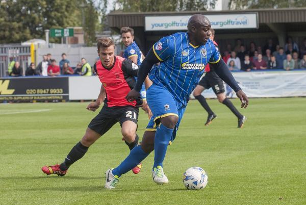 The goals will come: Neal Ardley is convinced the likes of Adebayo Akinfenwa will be among the goals soon             SP86769