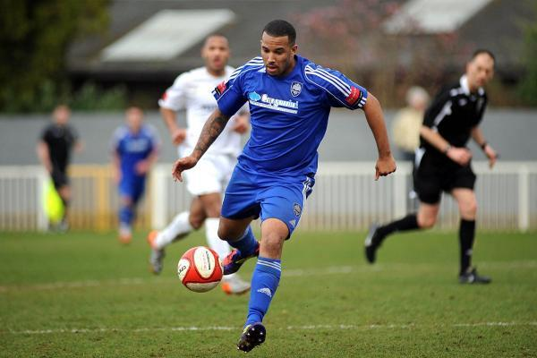 Four star: Ex-Met Police striker Stafforde Palmer has already scored four goals for Molesey in the FA Cup