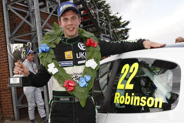 Nearly there: Surbiton racing driver Mike Robinson enjoys his double race win at Snetterton and is hoping for much more when the Michelin Clio Cup Race Series Championship concludes at Croft later this month