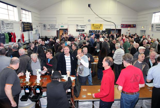 Locals enjoy the beer festival at Wallington Hall