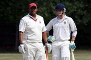 Brothers in arms (left to right): Godfrey Stevens and Ben Hudson of Epsom Cricket Club
