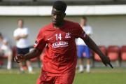 Winner: Kingsley Aikhionbare' second goal of the season sealed a 2-1 win at Hastings United on Saturday                SP81968