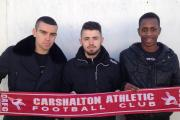 Here to stay (left to right): Sean O'Toole, Tommy Bradford and Mickel Miller have signed new deals at Colston Avenue        Picture: James Barrett)