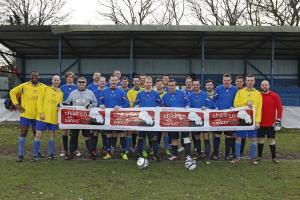 Thousands of pounds raised at charity football match is a winner for children with cancer