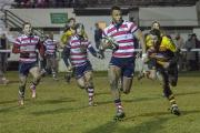 Big win: Kiba Richards breaks for Rosslyn Park in the Friday night win over Richmond           Picture: Charlie Addiman
