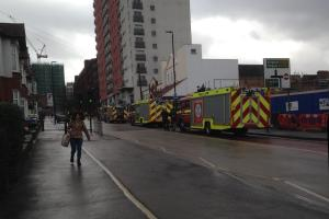 Storm Imogen: Police shut road in Sutton town centre as metal panel dangles from 16-storey building