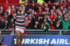 Simon Zebo scored the opening try against Leicester in the European Champions Cup