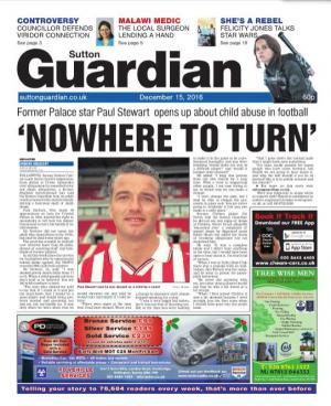 Sutton Guardian: The e-newspaper is your weekly copy of your favourite local newspaper delivered to your inbox. Sign up for free here >