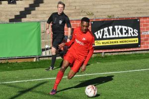 Carshalton Athletic striker Mickel Miller scored a hat-trick for the Robins in a 4-1 win over Herne Bay last weekend. Picture: Ian Gerrard