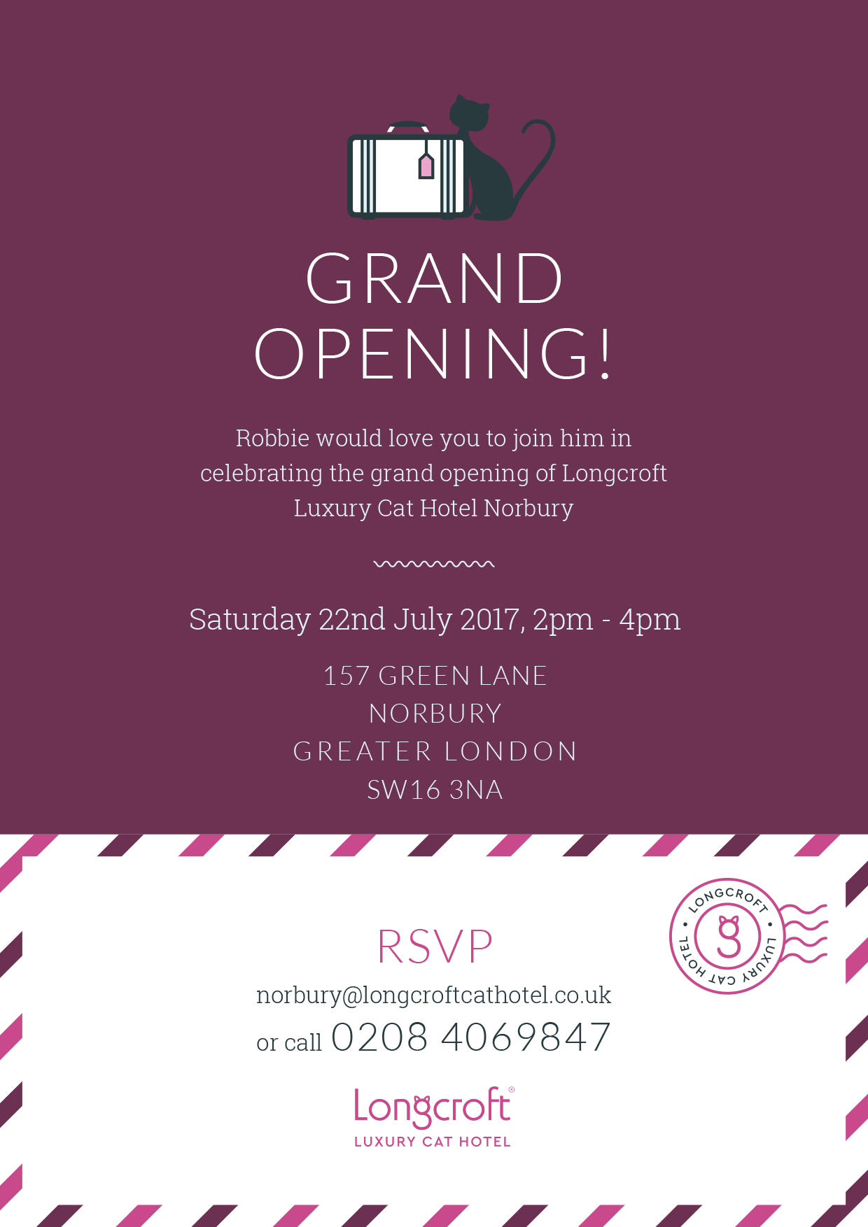Grand Opening - Longcroft Luxury Cat Hotel Norbury