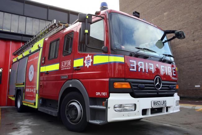 Firefighters were called to a residential care home in Burnell Road