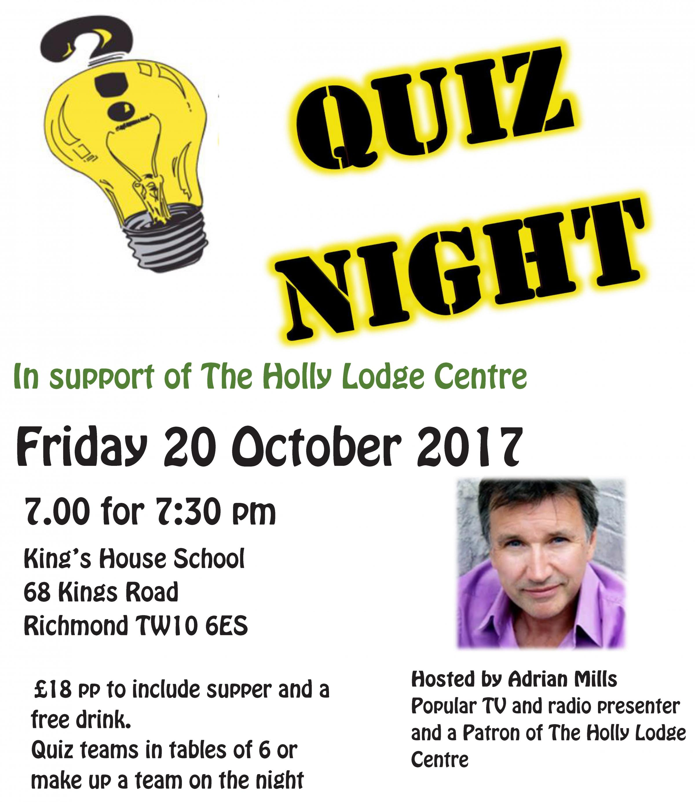 The Holly Lodge Centre's Annual Quiz Night