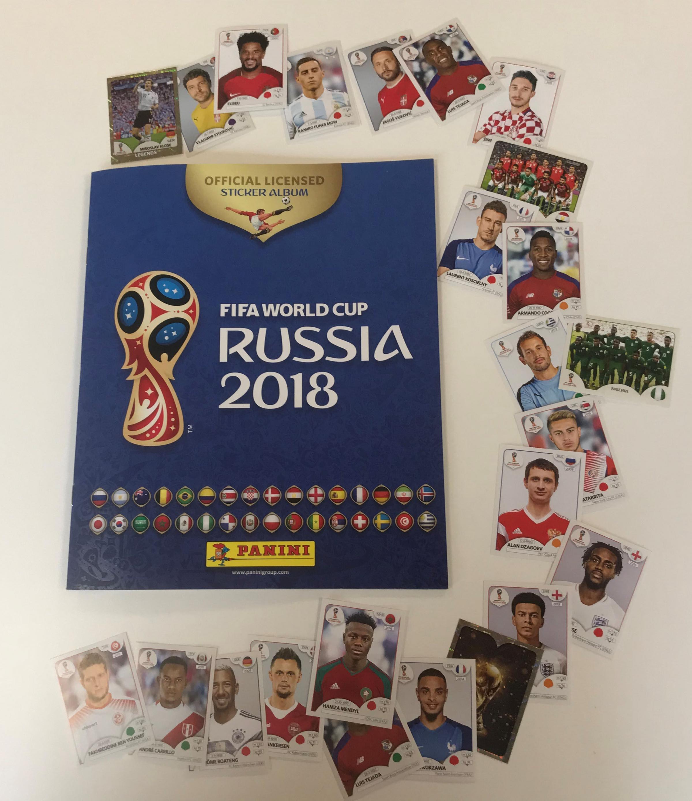 Paninis world cup 2018 sticker book photo cardiff universitys school of mathematics pa